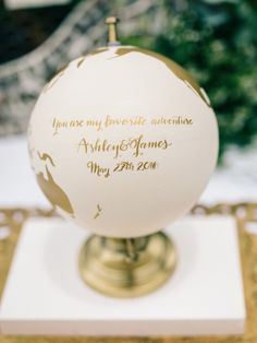 you are my favorite adventure wedding globe