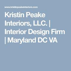 Kristin Peake Interiors, LLC. | Interior Design Firm | Maryland DC VA