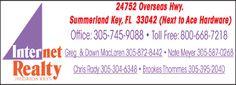 internet realty/florida keys, Summerland Key, FL