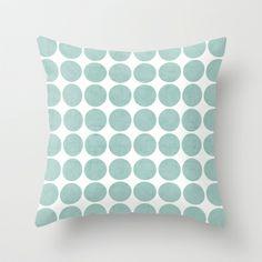robins egg blue dots Throw Pillow by Her Art - $20.00