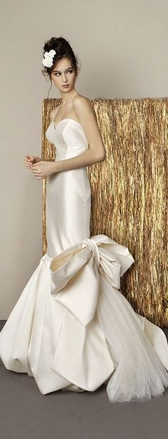 Modern Antonio Riva wedding dress