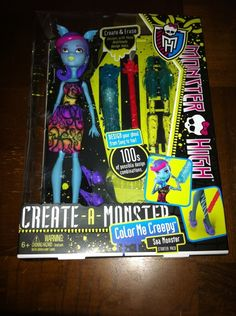 Color Me Creepy Sea Monster and add on clothing on Ebay - Monster High Dolls .com