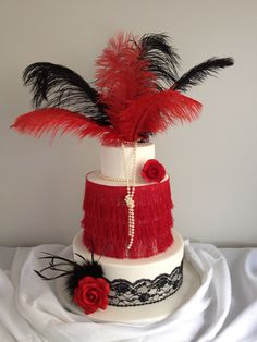 Una espectaulcar tarta para una fiesta años 20... / A spectacular cake for a 1920s party...