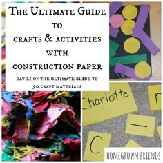 The Ultimate Guide to Crafts and Activities with Construction Paper