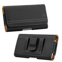 Horizontal case for smartphone belt style iphone leather embossed with an Eagle head