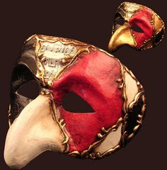 Commedia Dell'arte Mask used to great effect as disguises for the Don Giovanni production