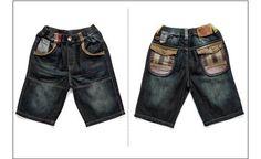 Free Shipping Retail Boy Vintage Jeans Kids Summer Shorts,Cotton K0836