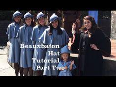 Beauxbaton Hat Tutorial Part 2 (Inexpensive Harry Potter Cosplay) - YouTube