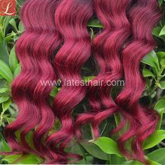 #1b/bug,black burgundy ombre hair weaves, loose wave two tone human hair,shop from www.latesthair.com/ Indian Hairstyles, Weave Hairstyles, Blond, Ombre Hair Weave, Ombre Human Hair Extensions, Hair Shop, Hair Weaves, Peruvian Hair, Loose Waves