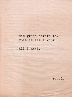 grace. Too bad the world doesn't understand just how much His grace is worth and the sacrifice it took to provide it!