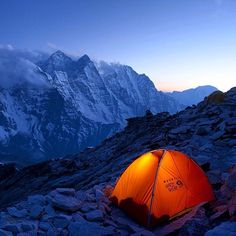 Bivies have the best views. Camp 1 on the Southwest Ridge of Ama Dablam. Photo by #MountainHardwear athlete @freddiewilkinson #DaysYouRemember #Padgram