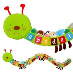 Animal Alphabet Finger Puppets in Caterpillar 26 animal finger puppets - one for each letter of the alphabet, living in an enormous, friendly caterpillar.