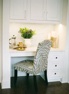 Desk nook in the kitchen