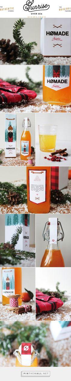 HØMADE – Sirop de Noël – Sunrise Over Sea curated by Packaging Diva PD. (French I think) Concernant le packaging , un peu de pliage, de découpage, de collage et le tour est joué ! For you Lily : )