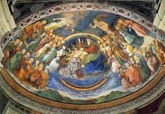 Coronation of the Virgin - Fra Filippo Lippi.  1467-69.  Fresco.  Apse, Spoleto Cathedral, Spoleto, Italy.