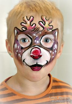 Little deer. Face paint by Tanya Maslova.