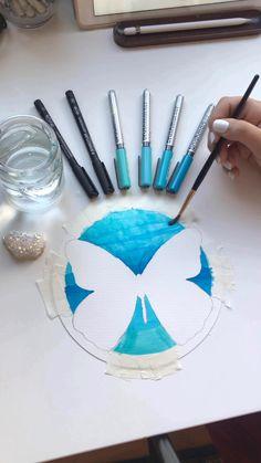 Cool Art Drawings, Pencil Art Drawings, Art Drawings Sketches, Dibujos Zentangle Art, Mandala Art Lesson, Art Painting Gallery, Pen Art, Diy Arts And Crafts, Art Lessons