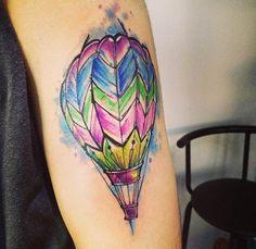 Hot Air Balloon Tattoo by Adrian Bascur
