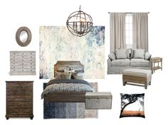 Relaxed by thelavenderlemon on Polyvore featuring interior, interiors, interior design, home, home decor, interior decorating, Chandra Rugs, Nate Berkus, John Beard Collection and rustic