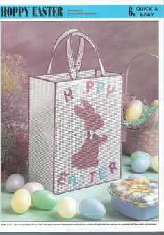 Happy Easter Tote Bag Plastic Canvas by needlecraftsupershop, $4.00