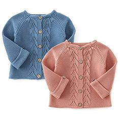 Coodebear Baby Girls Cashmere Cardigan Puff Sleeve Button Down Sweater