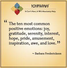 Barbara Fredrickson - the ten most common positive emotions ...