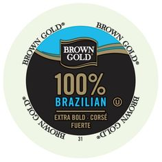Brown Gold Coffee Brazilian RealCup Portion Pack for Keurig K-Cup Brewers