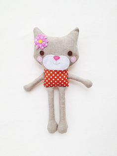 Cat Sewing Pattern - Mini Toy Plush Cat Pattern - PDF
