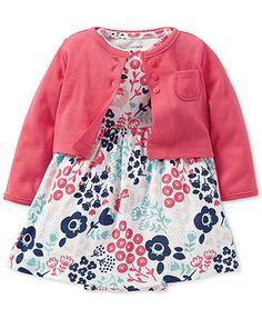 Carter\'s Baby Girls\' 2-Piece Cardigan & Dress Set