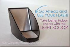 Take better indoor photos with a Light Scoop! Let's face it, sometimes you just have to use your flash- but use it right and your photos will still look great!