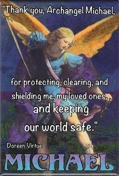 St Michael by Doreen Virtue Angel Protector, Archangel Prayers, Reiki, Angel Quotes, Angel Sayings, Angel Guidance, I Believe In Angels, My Guardian Angel, Ascended Masters