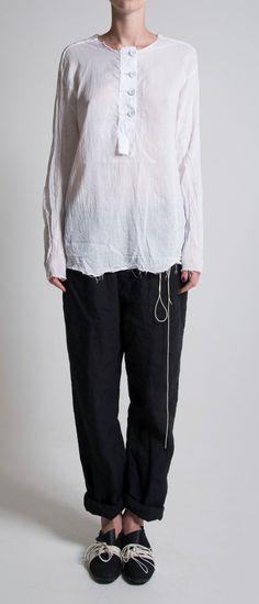 Elena Dawson Muslim Cotton Big Button Top