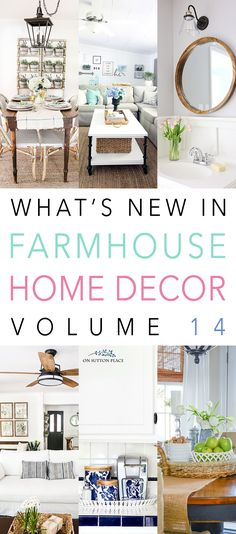 Hi there Friends. It's Sunday so that means it is time for What's New In Farmhouse Home Decor Volume14! We are so happy that you are enjoying this series and we hope to continue it for a long time. Today you will see some DIY Projects with a Farmhouse Flair…a few Farmhouse Home Tours that …