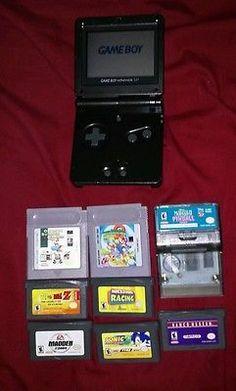 Nintendo Game Boy Advance SP Bundle 8 Games