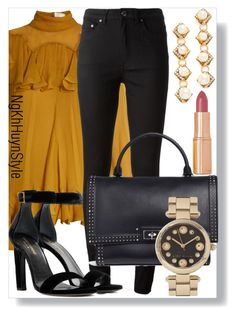 Untitled #267 by ngkhhuynstyle on Polyvore featuring polyvore fashion style Chloé Acne Studios Yves Saint Laurent Givenchy Marc Jacobs Erickson Beamon Charlotte Tilbury clothing