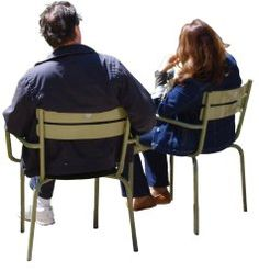 People cutouts: Couple Group Sitting 0001 cutout download