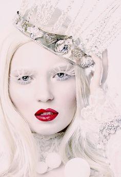 winter ice snow queen princess makeup