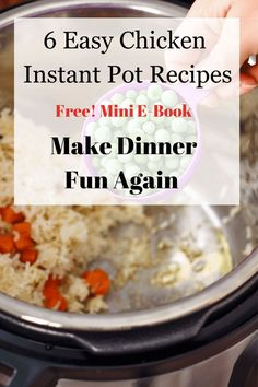 Families love chicken for dinner. One of the best ways to save time after a long day at work or a long day with the kids is to toss healthy ingredients in your Instant Pot for your family dinner. Add a bagof salad and you are free to spend time with thekids not standing over the stove. Easy Chicken Recipes, Pressure Cooking, Free Food, Instant Pot, Dinner Recipes, Healthy, Supper Recipes