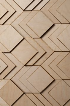 Atelier Anthony Roussel // 3D layered wooden surface, collection 01. Birch wood.