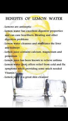 Lemon juice benefits!