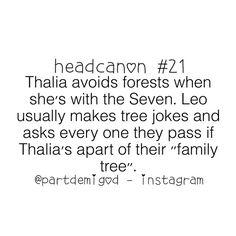 Thalia and trees