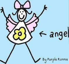 Angel by Purple Ronnie