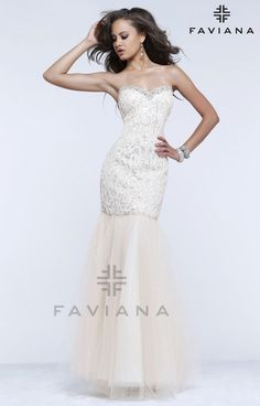 "Faviana 7354 ""Beautiful #faviana #gown perfect for #prom or #nightout. Comes in multiple colors. #dress #cocktail #beautiful #evening #spring #ballgown #2014"""