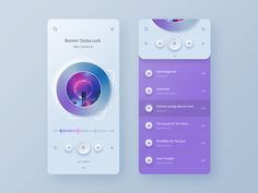Player app UI concept by Anton Skvortsov on Dribbble