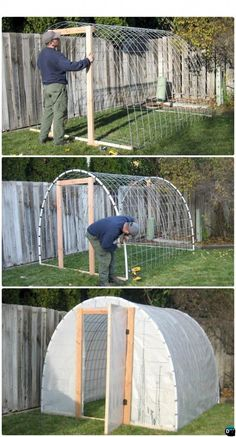 70 cool and unique DIY garden art ideas for attractive garden - colleen dahlin - diy 18 DIY Green House Projects Picture InstructionsDIY Wire Cattle Panel Greenhouse Free DIY Green House Projects Instructions Greenhouse, Outdoor Projects, Garden Projects, Home Projects, Build A Greenhouse, Greenhouse Gardening, Greenhouse Ideas, Greenhouse Wedding, Greenhouse House, Cheap Greenhouse