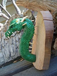 Forest Dragon green Throphy Draco by DragonDepartmentCGM on Etsy, $65.00