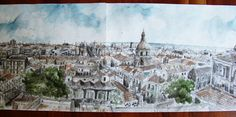 Urban Sketchers Italy Urban Sketchers, Graphic Illustration, Paris Skyline, Doodle, Arch, Sketches, Italy, Graphics, Painting
