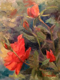 """""""Nadean's Flowers""""  14x11"""