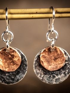 Classic and artsy mixed metal earrings that are perfect for everyday.