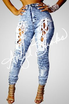 Designer Clothes, Shoes & Bags for Women Sexy Outfits, Casual Outfits, Cute Outfits, Fashion Outfits, Womens Fashion, Fashion Trends, Lace Jeans, Sexy Jeans, Diy Clothes